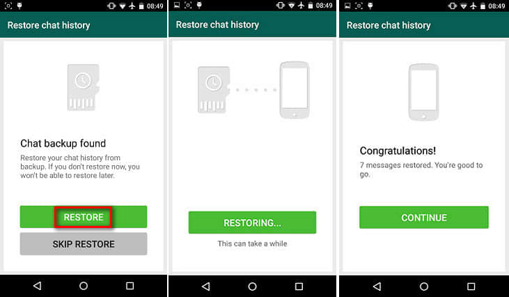 how to view backup whatsapp messages in google drive