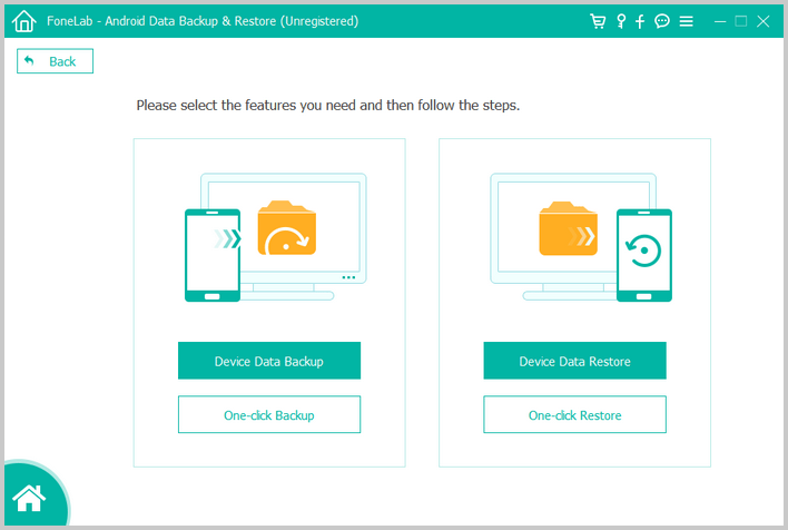 choose android backup restore mode
