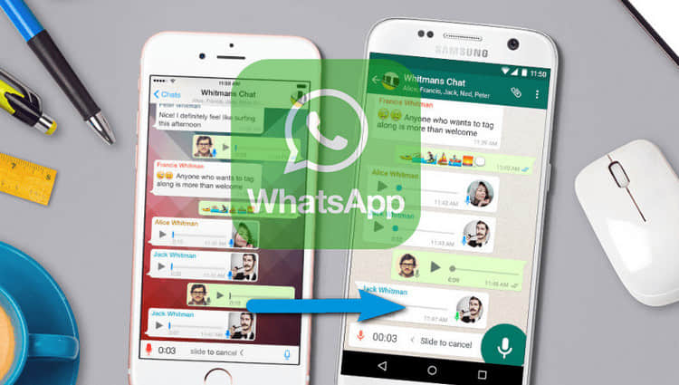 whatsapp samsung iphone