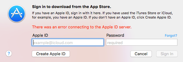 Apple ID Server Connecting Error, How Can I Fix?
