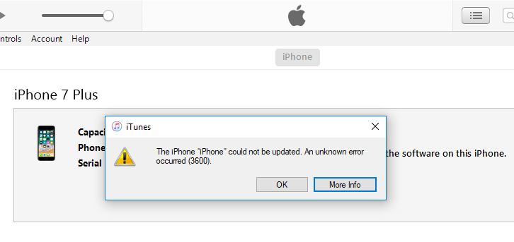 Top 6 Ways to Fix iTunes Error 3600 on iPhone X/8/7/Plus/6/S/5