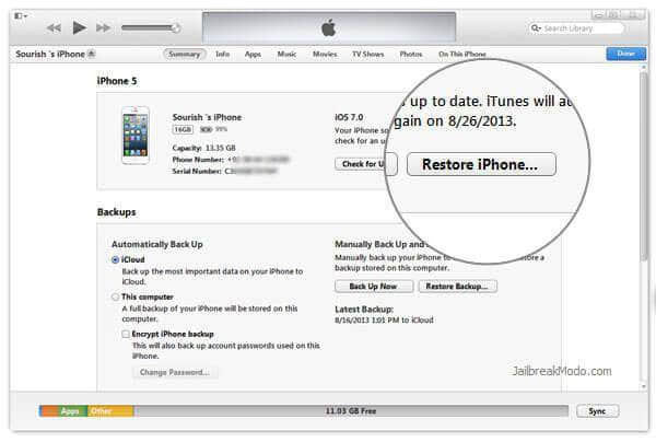restore locked iphone 5c without itunes