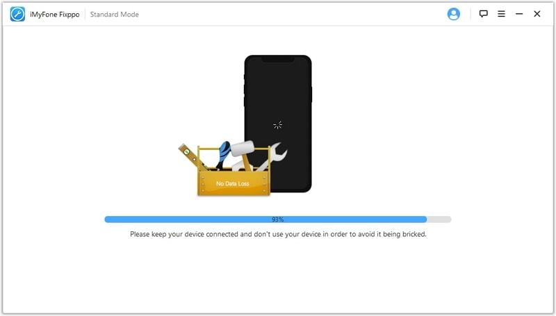 réparer l'iPhone bloqué lors du chargement d'un écran blanc noir