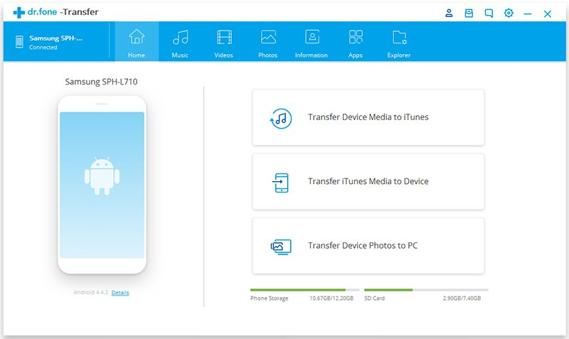 dr fone for android tablet