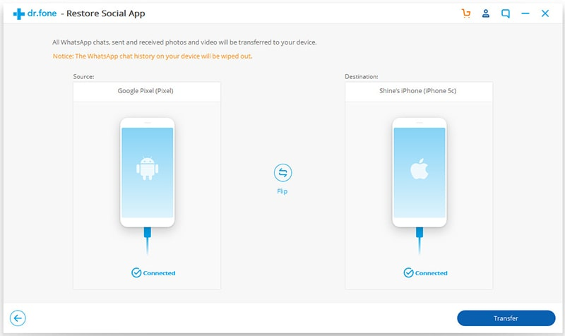Backuptrans iphone whatsapp to android transfer key