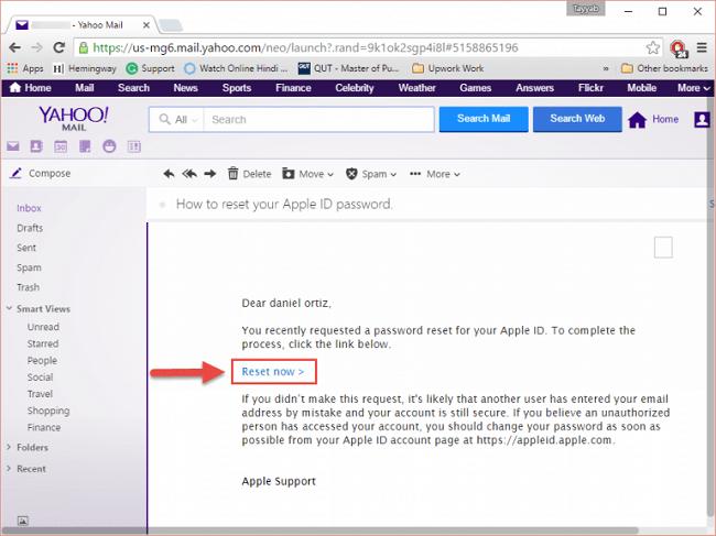 apple id password reset email address