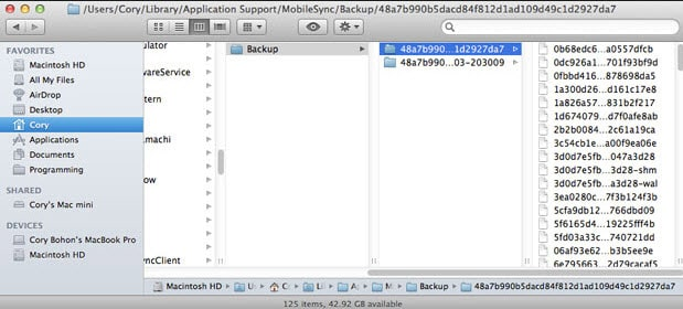 how to delete backups