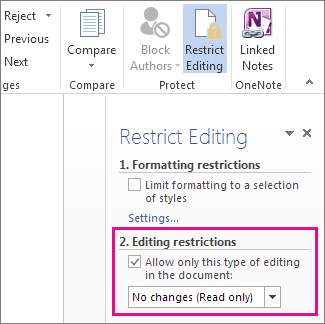 how to change from read only excel