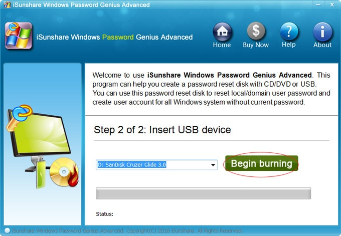 reset acer password without disk