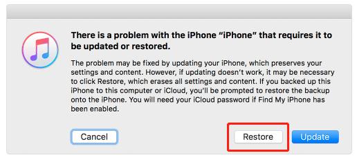 restaurer bootloop iphone avec itunes