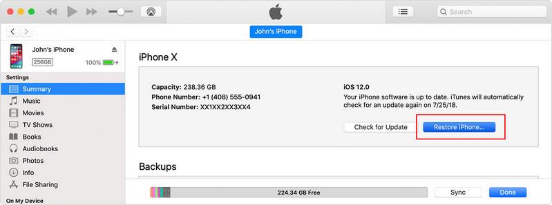 réparer bootloop iphone avec iTunes