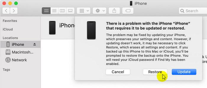 mode de récupération réparer le logo apple gelé iphone